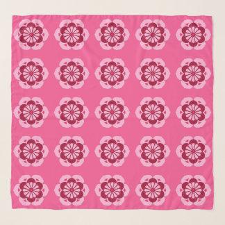 Foulard Mandala de fleur de Lotus, rose fuchsia et