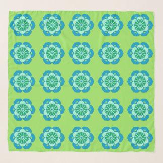 Foulard Mandala de fleur de Lotus, vert de chaux et