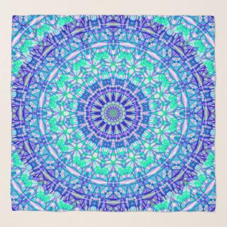 Foulard Mandala tribal G389 d'écharpe carrée