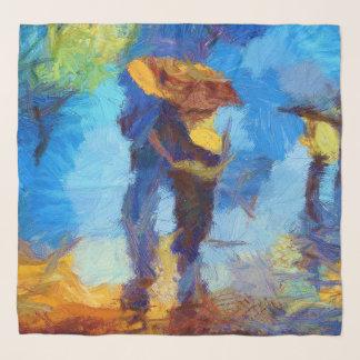 Foulard Marche dans l'écharpe de Chifon de pluie