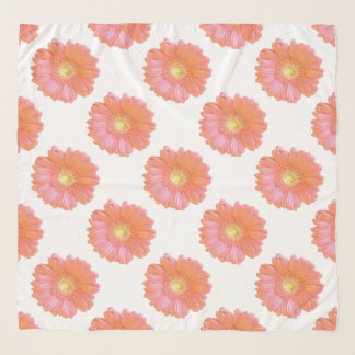 Foulard Marguerite orange de gerbera