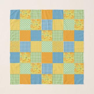 Foulard Motif d'or de patchwork de Faux de jonquilles