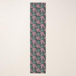 Foulard Motif floral élégant de motif rose de Lotus
