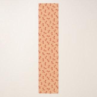 Foulard Motif japonais de libellule, mandarine
