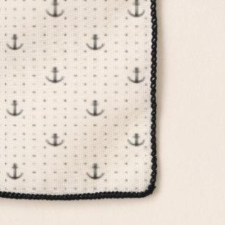 Foulard Motif nautique minimaliste d'ancres de monogramme