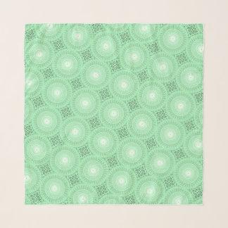 Foulard Motif vert de cercles de ressort