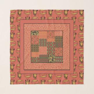 Foulard Motifs égyptiens de tribal de rouge de brique de