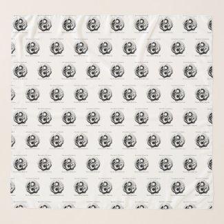 Foulard mousseline de soie avec logo auteur