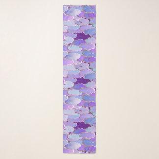 Foulard Nuages japonais, crépuscule, violette et Deep