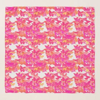 Foulard Papillons, rose, fuchsia et corail