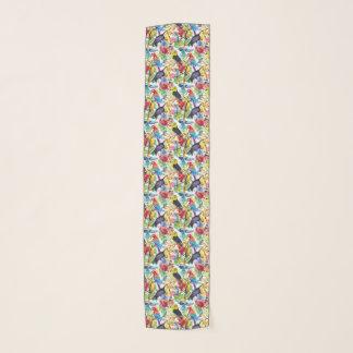 Foulard Perroquets colorés d'aquarelle