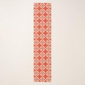 Foulard Shippo avec le motif de fleur, mandarine