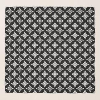Foulard Shippo avec le motif, le noir, le blanc et le gris