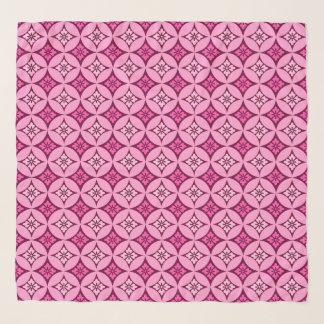 Foulard Shippo avec le motif, le rose et le Bourgogne de