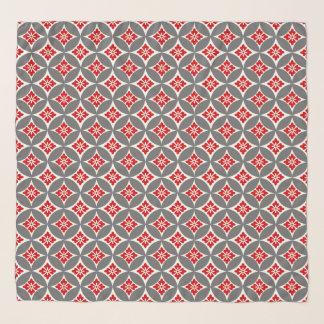Foulard Shippo avec le motif, le rouge, le blanc et le