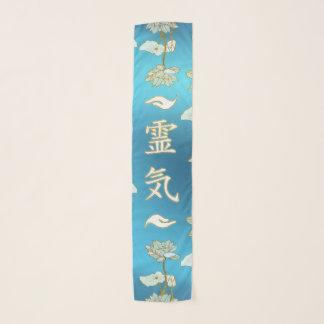 Foulard Symbole curatif de mains de Reiki avec le lotus