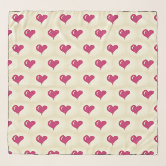 Foulard Valentines - anniversaire - amour - coeurs