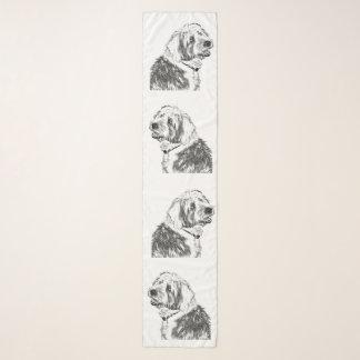 Foulard Vieux chiens de moutons anglais de sourire