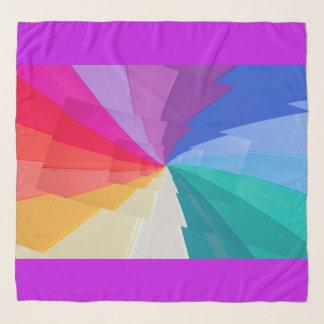 Foulard vortex multicolore sur l'écharpe de mousseline de