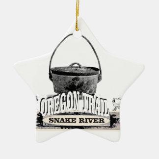 four néerlandais sur la rivière Snake Ornement Étoile En Céramique