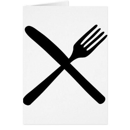 fourchette et couteau de couverts crois s cartes de v ux zazzle. Black Bedroom Furniture Sets. Home Design Ideas