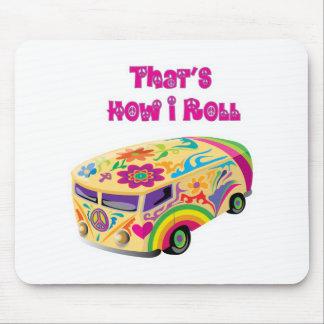 fourgon hippie rétro comment je roule tapis de souris