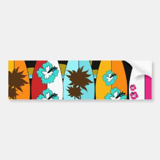 Fourgons surfants sans valeur de hippie de surfer autocollant de voiture
