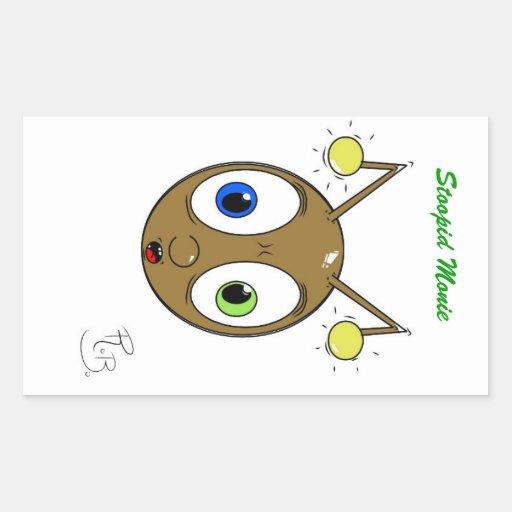 Fourmi de Stoopid Monie Sticker En Rectangle