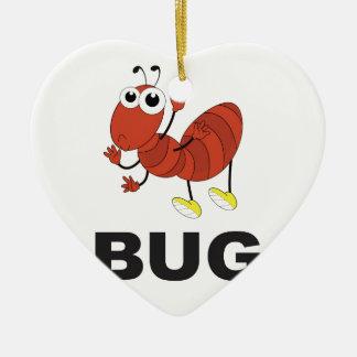 fourmi d'insecte ornement cœur en céramique