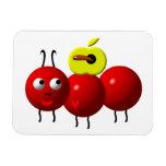 Fourmi mignonne avec Apple Magnet Rectangulaire