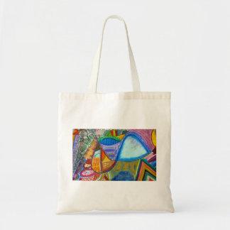 Fourre-tout abstrait sacs en toile