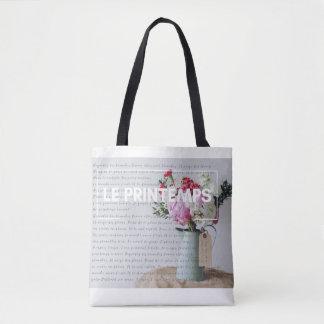 Fourre-tout élégant - printemps - Français inspiré Sac
