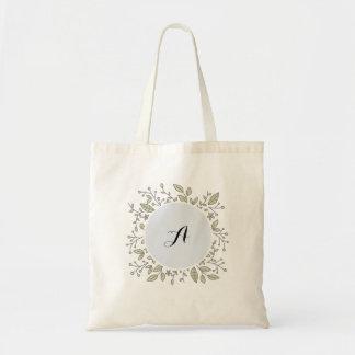 Fourre-tout floral personnalisé sac