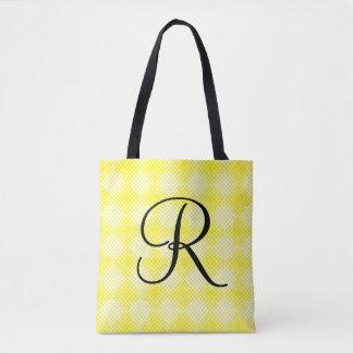 Fourre-tout initial noir et jaune sac