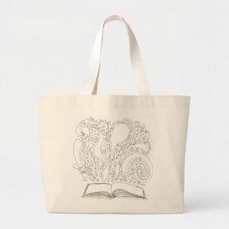 Fourre-tout - magie de livre grand tote bag