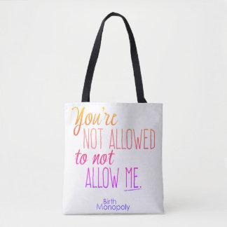 """"""""""" Fourre-tout non permis Tote Bag"""