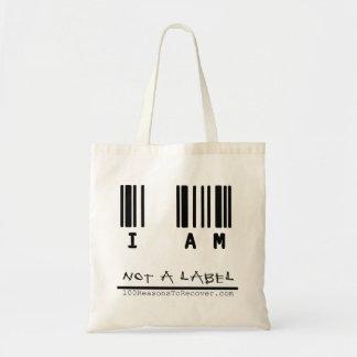 Fourre-tout - pas un étiquette sacs en toile