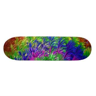 Fourrure d'arc-en-ciel/abrégé sur pelucheux plume plateau de skateboard