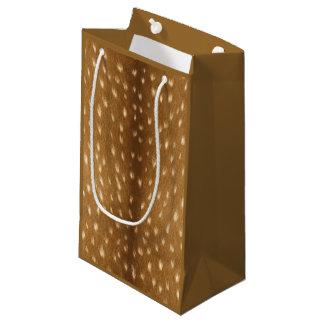 Fourrure de faon repérée par cerfs communs petit sac cadeau