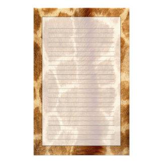 Fourrure de girafe papier à lettre customisé
