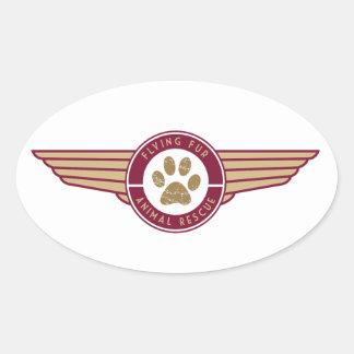 Fourrure de vol - autocollant de logo de ligne