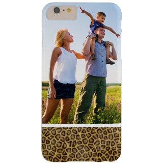 Fourrure faite sur commande de léopard de photo coque iPhone 6 plus barely there