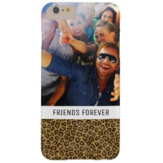 Fourrure faite sur commande de léopard de photo et coque barely there iPhone 6 plus