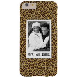 Fourrure faite sur commande de photo et de léopard coque barely there iPhone 6 plus
