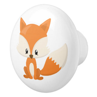 Fox adorable de bande dessinée avec l'arrière -