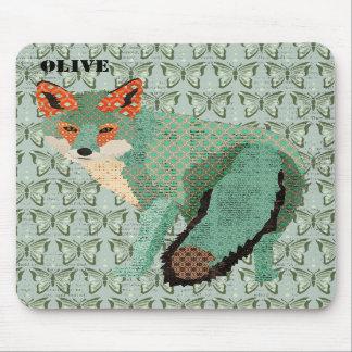 Fox ambre Mousepad personnalisé par papillon de Sm Tapis De Souris