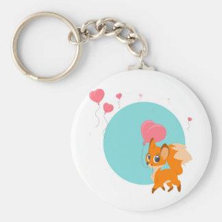Fox avec le porte - clé de ballon porte-clé rond