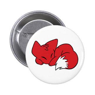 Fox courbé de sommeil badge avec épingle
