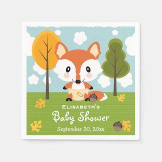 Fox dans le baby shower de couches-culottes serviette jetable