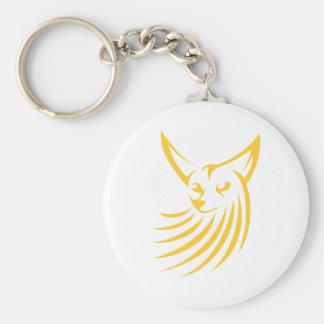 Fox de Fennec dans le style chic de dessin Porte-clé Rond